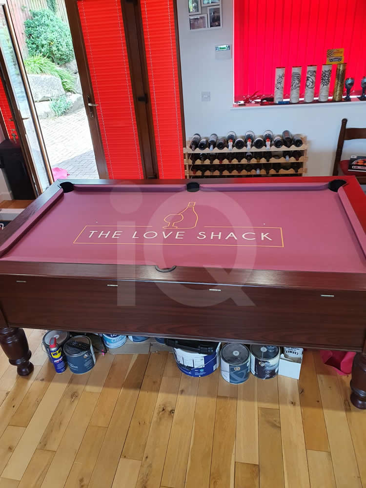 Recover of an DPT 7ft  Pool Table with Love Shack Custom Cloth After Image 6