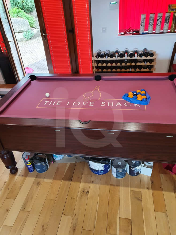 Recover of an DPT 7ft  Pool Table with Love Shack Custom Cloth After Image 8