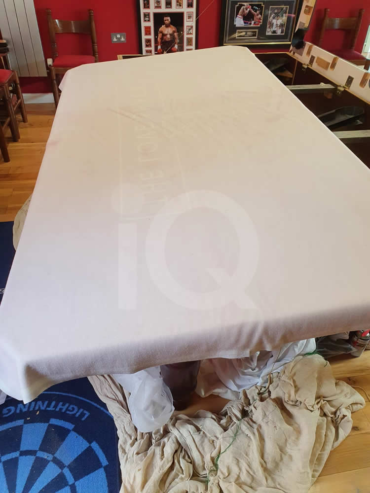 Recover of an DPT 7ft  Pool Table with Love Shack Custom Cloth Before Image 1