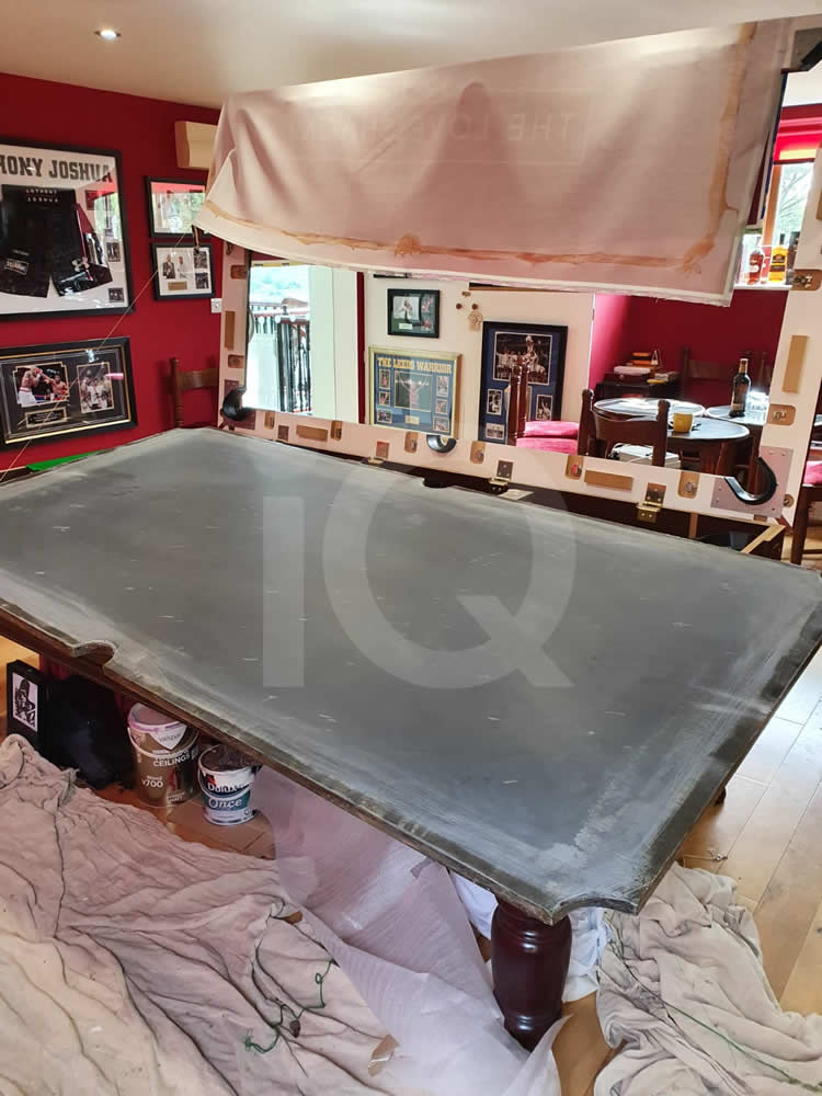 Recover of an DPT 7ft  Pool Table with Love Shack Custom Cloth Before Image 16