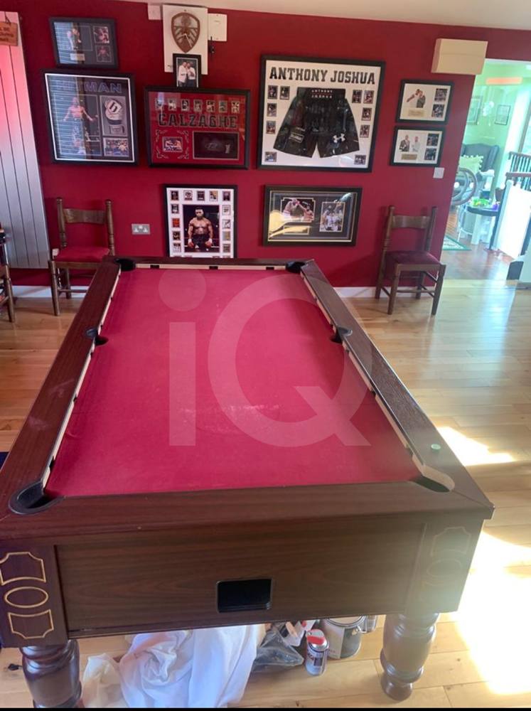 Recover of an DPT 7ft  Pool Table with Love Shack Custom Cloth Before Image 17