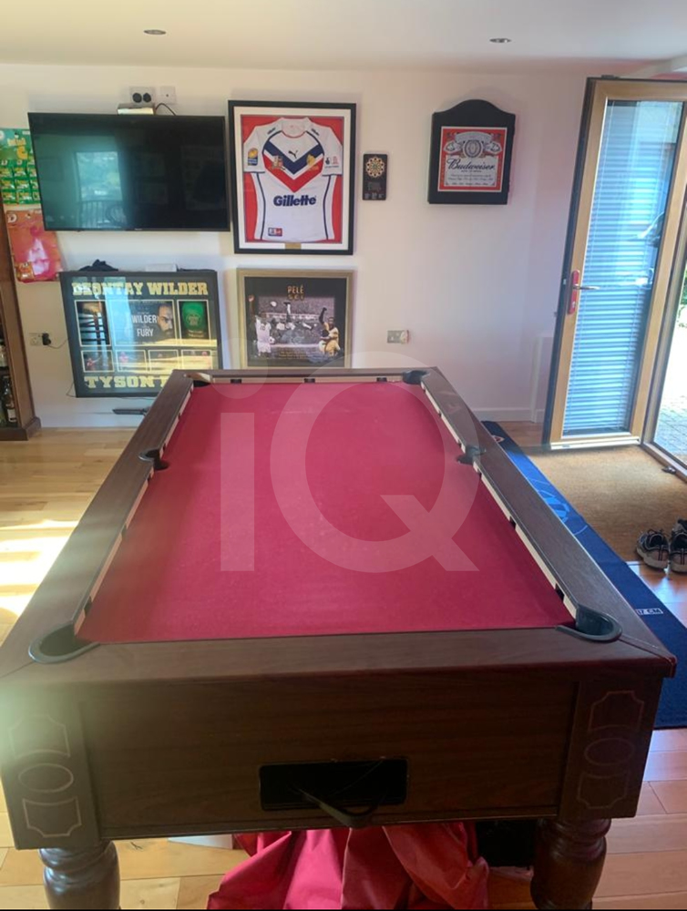Recover of an DPT 7ft  Pool Table with Love Shack Custom Cloth Before Image 18
