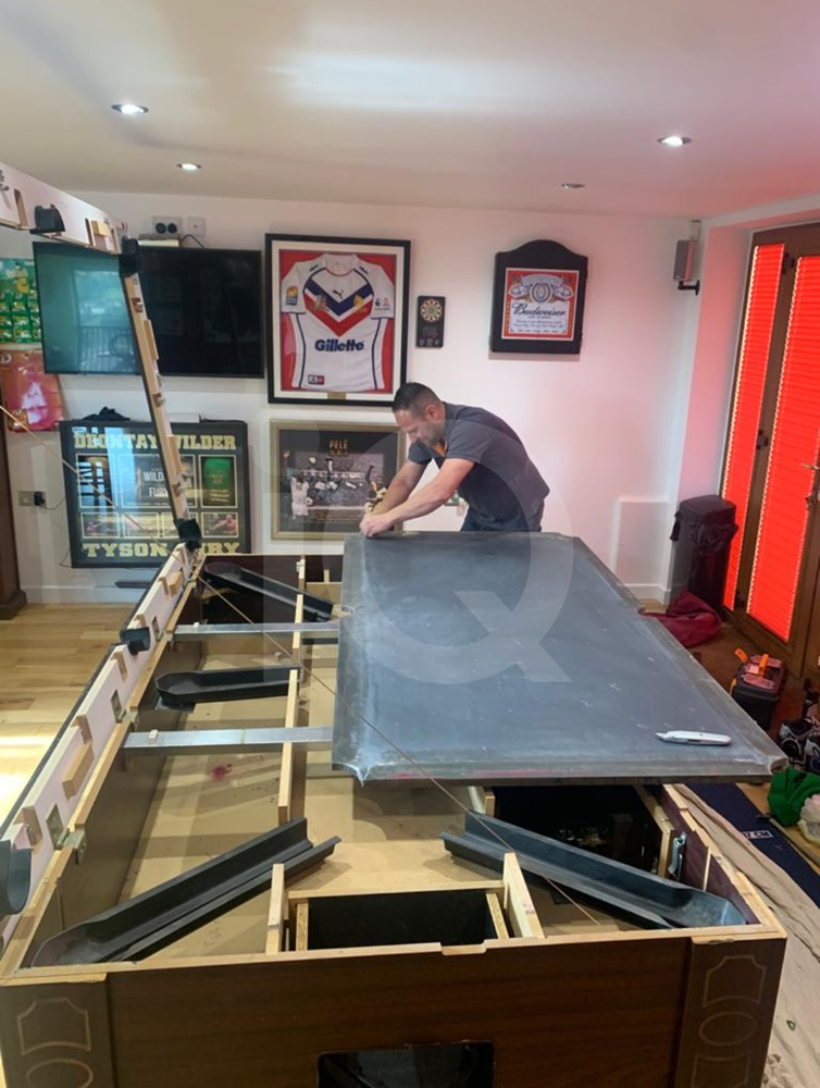 Recover of an DPT 7ft  Pool Table with Love Shack Custom Cloth Before Image 19