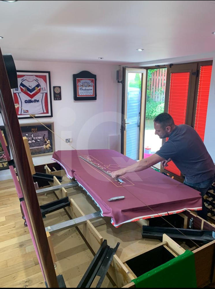 Recover of an DPT 7ft  Pool Table with Love Shack Custom Cloth Before Image 21