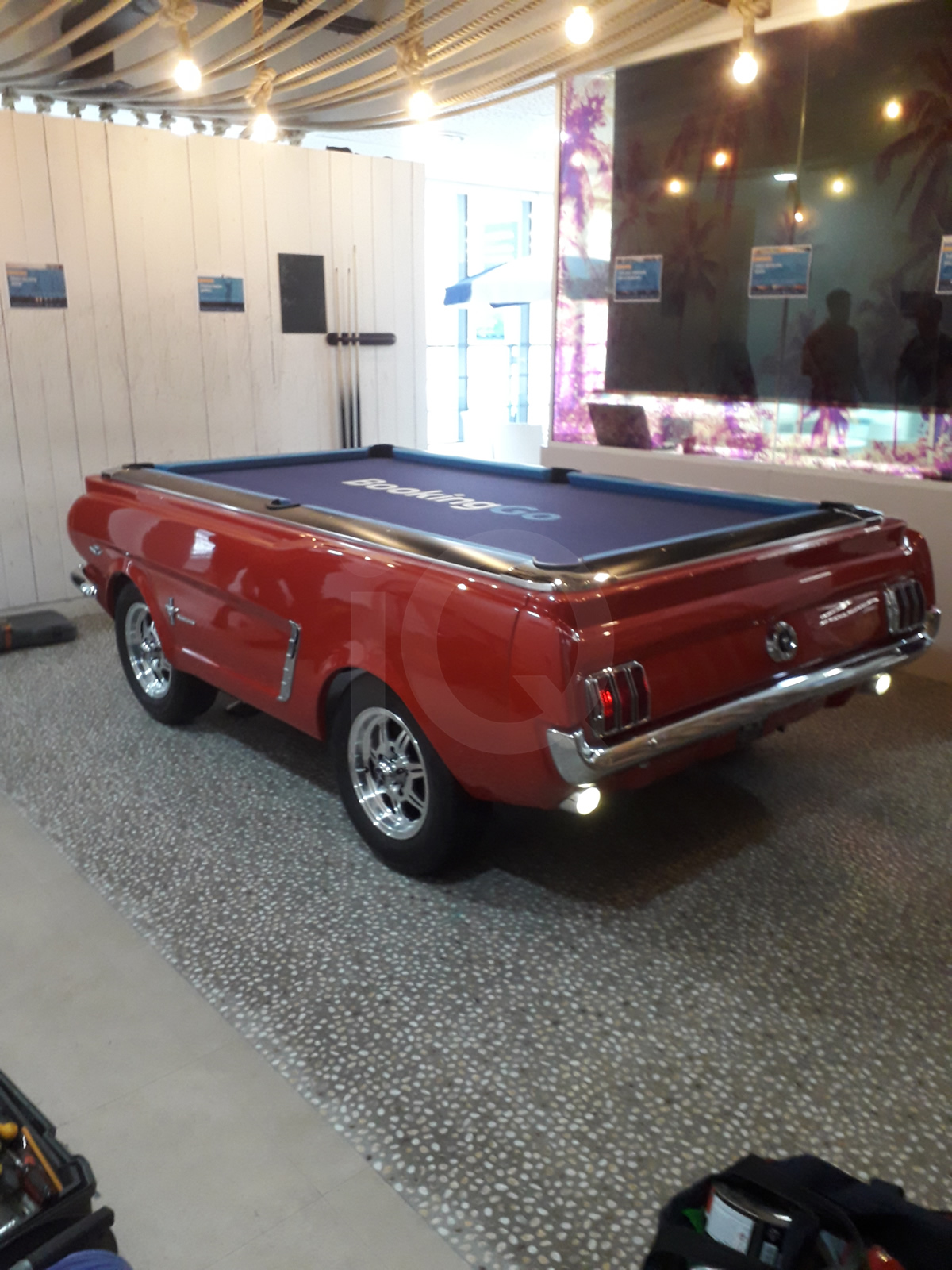 Recover of an  American Mustang Car with a Pool Table Top After Image 7
