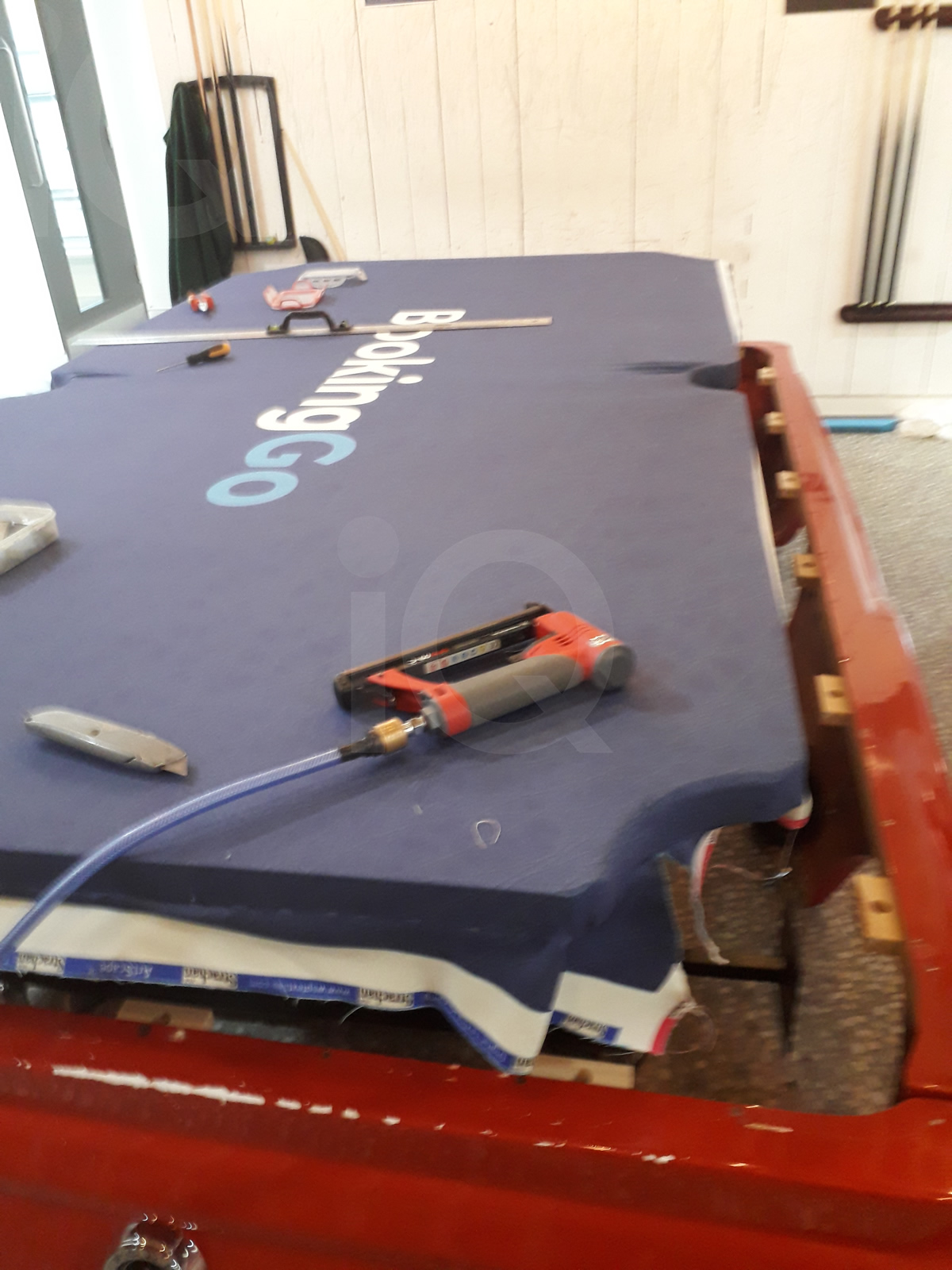 Recover of an  American Mustang Car with a Pool Table Top Before Image 11