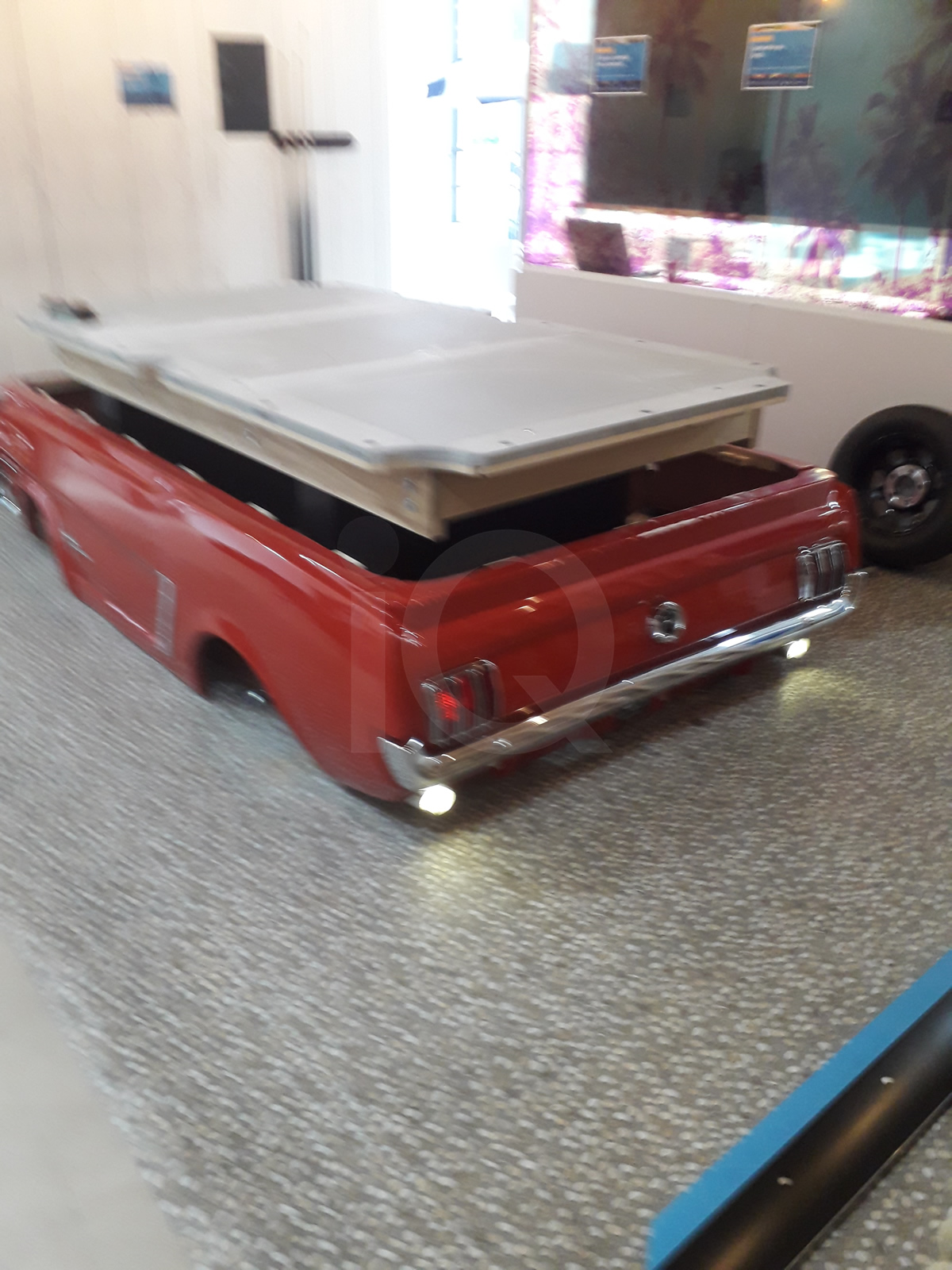 Recover of an  American Mustang Car with a Pool Table Top Before Image 9