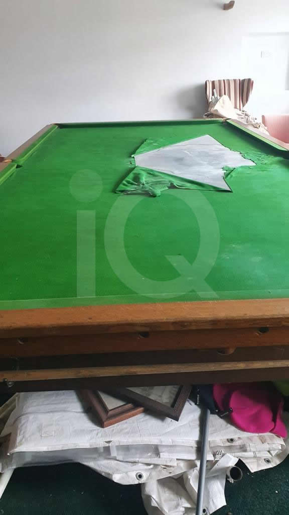 Recover of a Classic Old Orme & Sons Snooker Table  Before Image 1