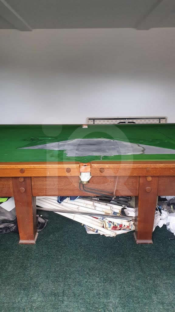 Recover of a Classic Old Orme & Sons Snooker Table  Before Image 13