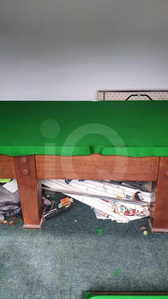 Recover of a Classic Old Orme & Sons Snooker Table  Before Image 7