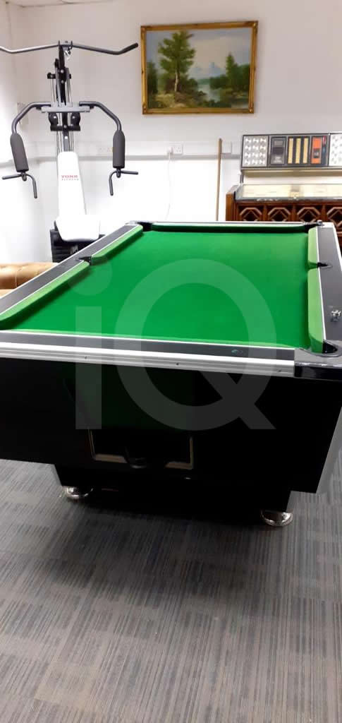 Recover of Green napped Hainsworth Cloth and Re Rubbering of a 7ft Older Style HGM Pool Table After Image 1