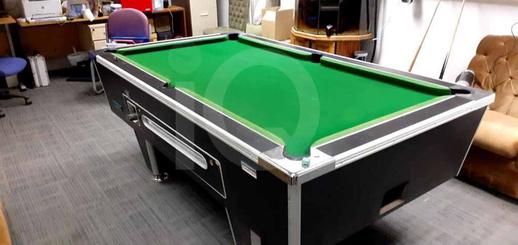 Recover of Green napped Hainsworth Cloth and Re Rubbering of a 7ft Older Style HGM Pool Table After Image10