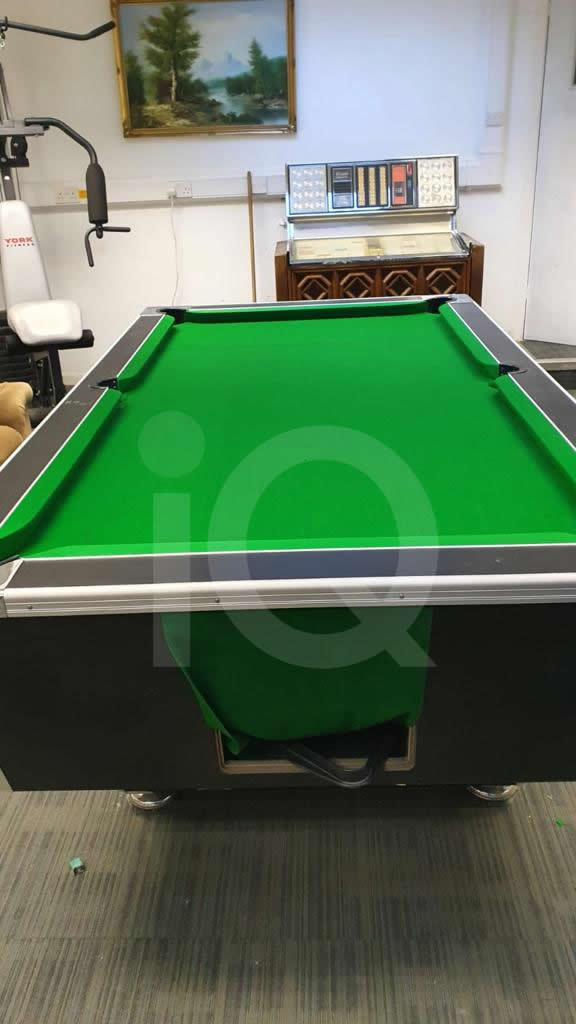 Recover of Green napped Hainsworth Cloth and Re Rubbering of a 7ft Older Style HGM Pool Table After Image 11