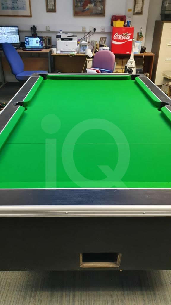 Recover of Green napped Hainsworth Cloth and Re Rubbering of a 7ft Older Style HGM Pool Table After Image 14