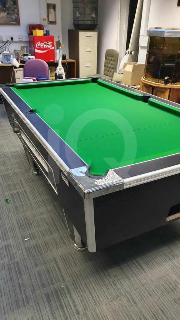 Recover of Green napped Hainsworth Cloth and Re Rubbering of a 7ft Older Style HGM Pool Table After Image 15