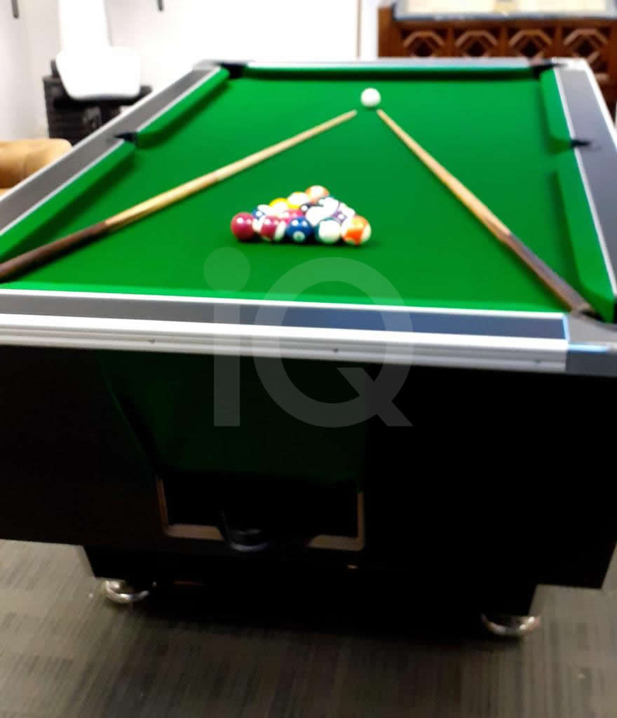 Recover of Green napped Hainsworth Cloth and Re Rubbering of a 7ft Older Style HGM Pool Table After Image 2