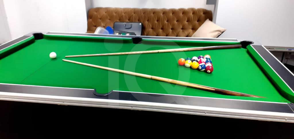 Recover of Green napped Hainsworth Cloth and Re Rubbering of a 7ft Older Style HGM Pool Table After Image 4