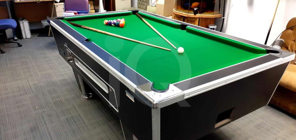 Recover of Green napped Hainsworth Cloth and Re Rubbering of a 7ft Older Style HGM Pool Table After Image 5