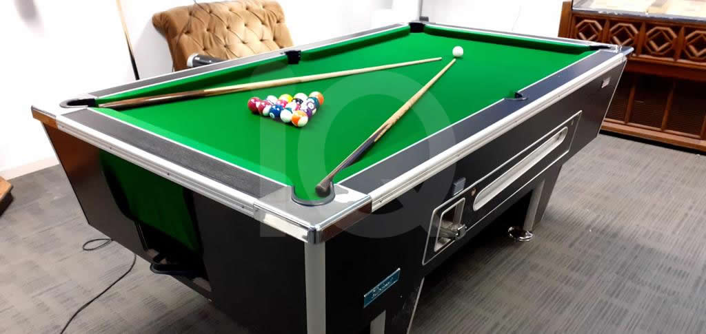 Recover of Green napped Hainsworth Cloth and Re Rubbering of a 7ft Older Style HGM Pool Table After Image 6
