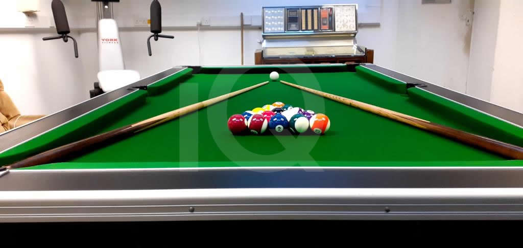 Recover of Green napped Hainsworth Cloth and Re Rubbering of a 7ft Older Style HGM Pool Table After Image 7