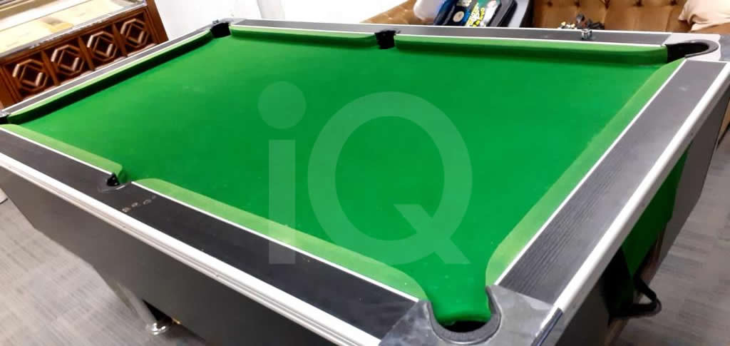 Recover of Green napped Hainsworth Cloth and Re Rubbering of a 7ft Older Style HGM Pool Table After Image 9