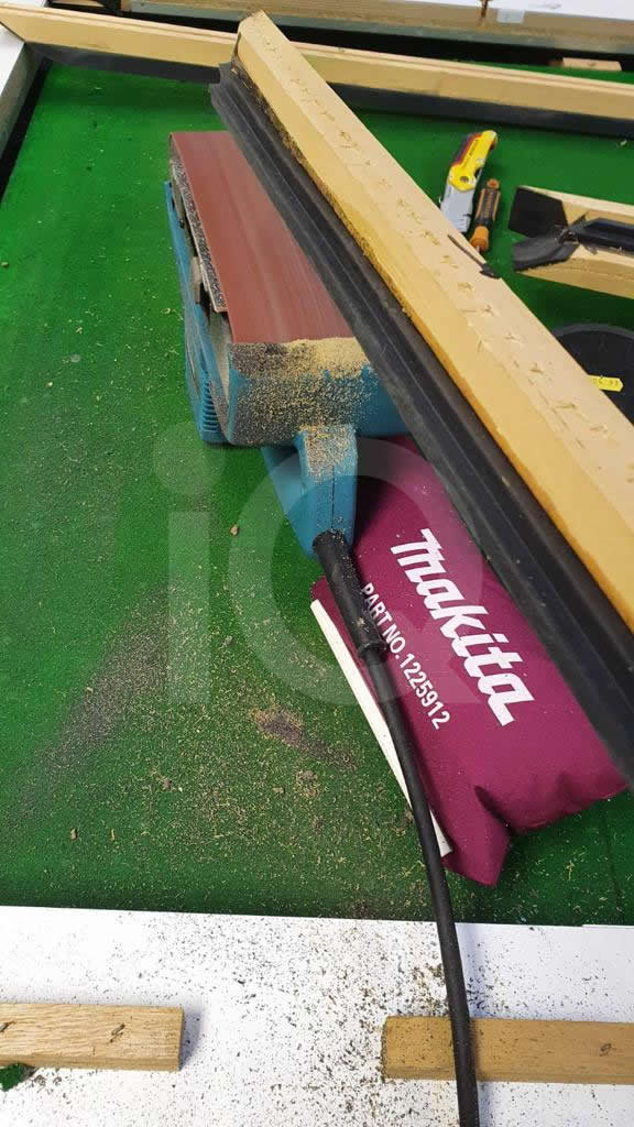 Recover of Green napped Hainsworth Cloth and Re Rubbering of a 7ft Older Style HGM Pool Table Before Image 5