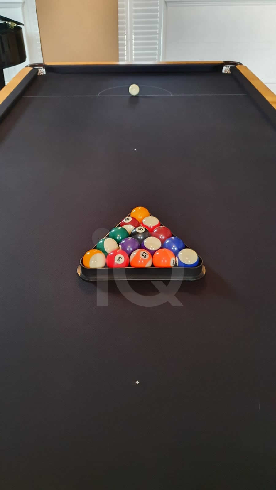 Recover of a 8ft Strachan 6811 Snooker Table with Black Cloth After Image 2