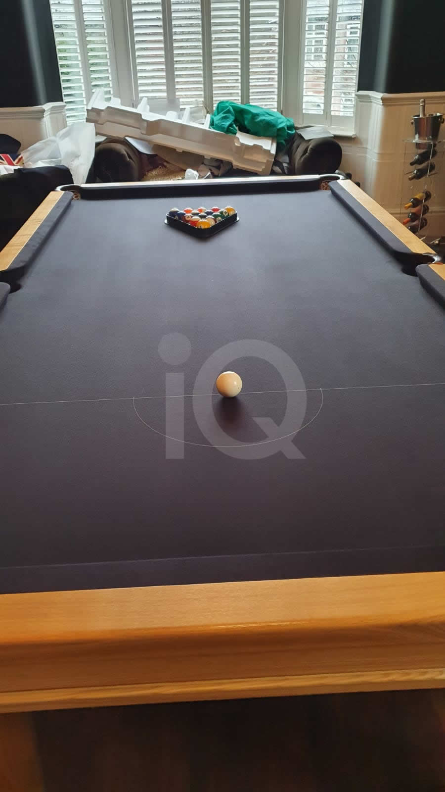 Recover of a 8ft Strachan 6811 Snooker Table with Black Cloth After Image 3