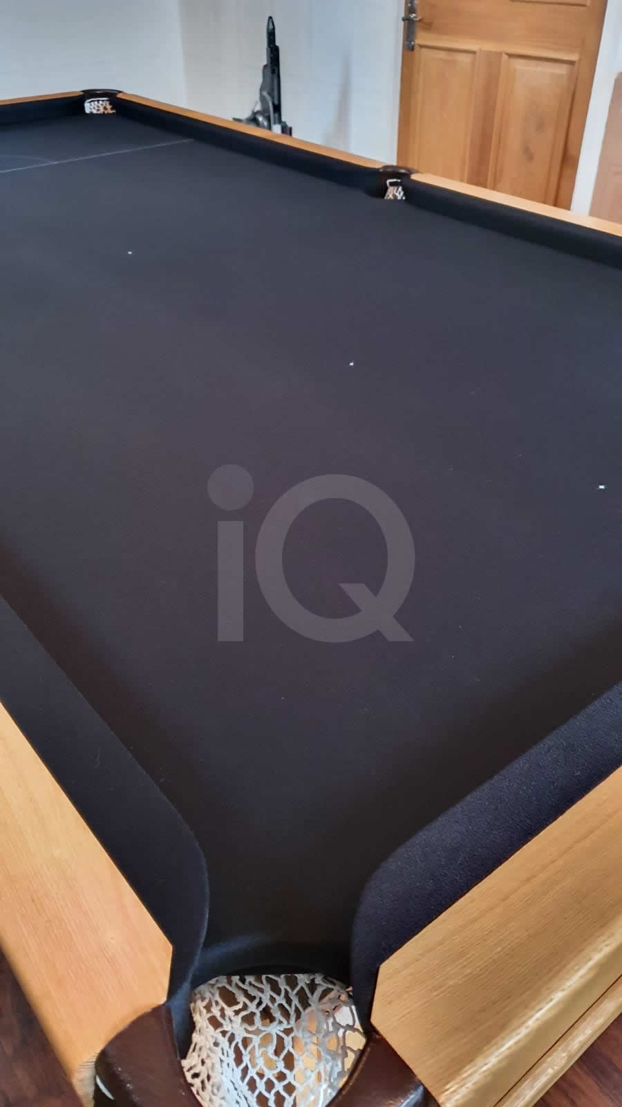 Recover of a 8ft Strachan 6811 Snooker Table with Black Cloth After Image 5