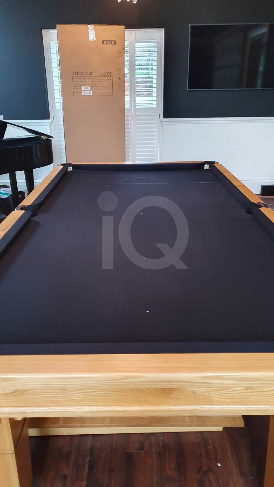 Recover of a 8ft Strachan 6811 Snooker Table with Black Cloth After Image 6