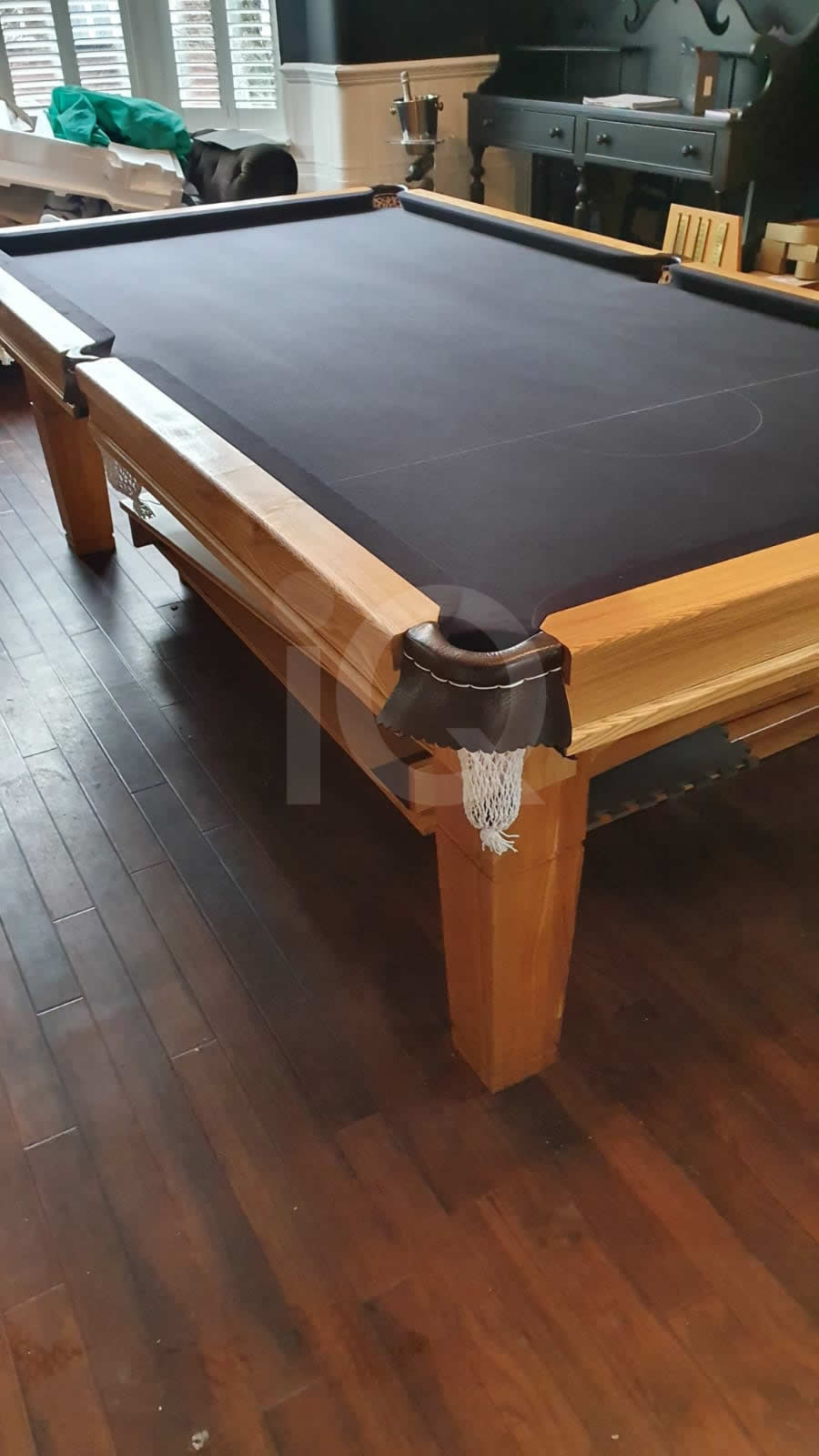 Recover of a 8ft Strachan 6811 Snooker Table with Black Cloth After Image 7