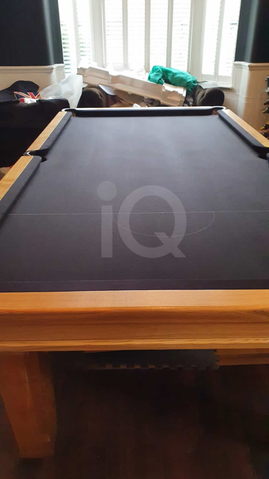 Recover of a 8ft Strachan 6811 Snooker Table with Black Cloth After Image 8