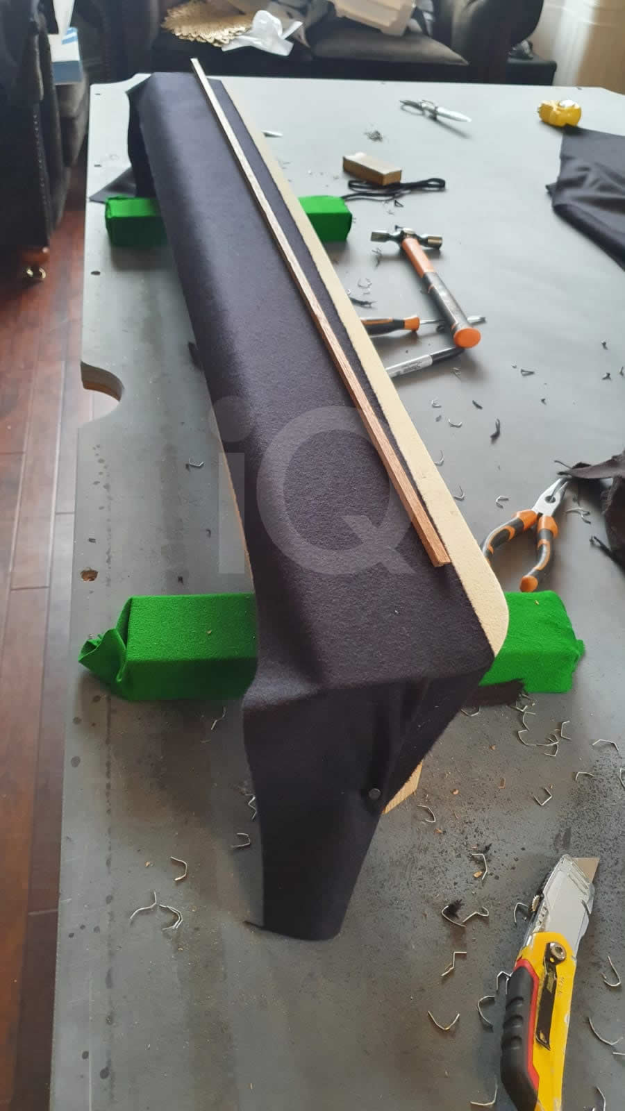 Recover of a 8ft Strachan 6811 Snooker Table with Black Cloth Before Image 5